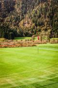Idyllic golf hole - stock photo