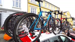 Tour of Denmark - danish stage race for professional road bicycle racers Stock Footage