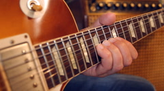 Musician playing electric guitar Arkistovideo