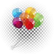 Stock Illustration of Color Glossy Balloons Background Vector Illustration