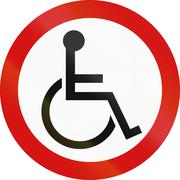 Disabled Parking In Ireland Stock Illustration