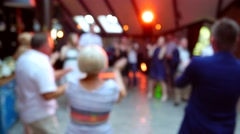 Many people dance on dance floor Stock Footage