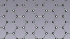 3d molecular lattice animation, seamless loop - stock footage