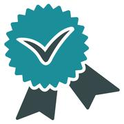 Validation seal icon from Competition & Success Bicolor Icon Set - stock illustration
