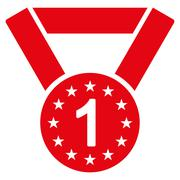 First medal icon from Competition & Success Bicolor Icon Set - stock illustration