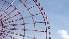 Ferris Wheel Palette Town in Tokyo Stock Footage