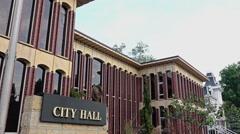 Wooster Ohio City Hall Establishing Shot Stock Footage