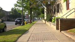 Walking POV Down Sidewalk Stock Footage