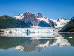 Columbia Glacier Alaska - stock photo