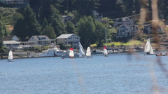 Small town sailing club Stock Footage