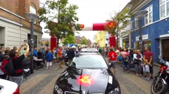 Start line - at a professional cycling event Stock Footage