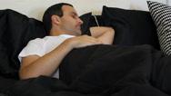 Stock Video Footage of Man sleeping in bed