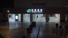 JR Akihabara Station at night Stock Footage