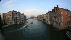 Traffic on the Grand Canal (Canale Grande) Stock Footage