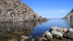 Sardinia - Calafico bay - stock footage