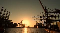 hamburg harbor - stock footage