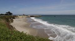 Stock Video Footage of Beach Coastline of Santa Cruz California Stock Video
