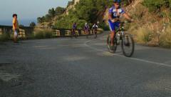 Mountainbiker 3 Stock Footage