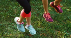 Foot of athletes Stock Footage