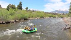 Whitewater Rafting in Colorado Rockys - stock footage