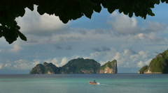 View to the Phi Phi Leh island in the Andoman sea Stock Footage