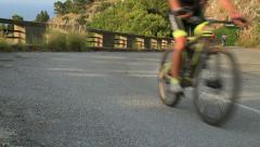 Mountainbiker Stock Footage