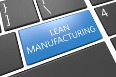 Lean Manufacturing - stock illustration