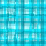 Vector seamless pattern with square hand drawn texture. Aquamarine checkered Stock Illustration