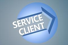 Service Client Stock Illustration