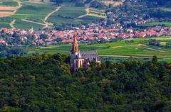 Catholic church near Bingen am Rhein and Ruedesheim, Rheinland-P - stock photo