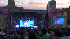Toronto events for the 2015 Pan Am Games - stock footage