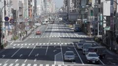 Long straight road at Ueno timelapse Stock Footage