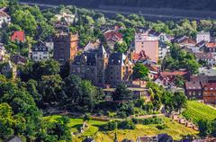 Klopp Castle in Bingen am Rhein, Rheinland-Pfalz, Germany Stock Photos
