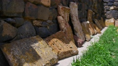 Ancient Tombstones with Religious Carvings - stock footage