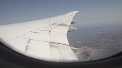 Airplane in the sky Stock Footage