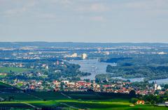 Rhein river, Ruedesheim, Rheinland-Pfalz, Germany Stock Photos