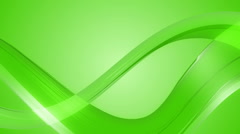 Green ribbon twisted Stock Footage