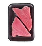 Ahi Tuna Raw Steaks - stock photo
