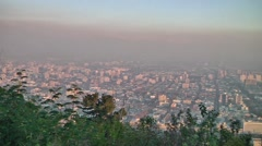Strong smog in Chile Stock Footage