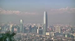 Smog of Santiago in Chile Stock Footage