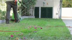 Home Gardening - Electric Mower (Shot 4) Stock Footage