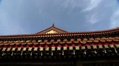 Beijing,Tiananmen,Eaves Stock Footage