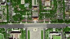 Beijing,Tiananmen,overlooking ,sketch map Stock Footage