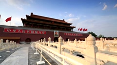 Beijing,Tiananmen,forward camera motion Stock Footage