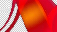 Red overlay ribbon with alpha Stock Footage