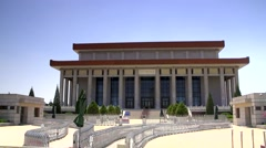 Tian 'anmen ,Chairman MAO memorial hall - stock footage