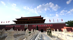 Tian'anmen,guard of honour - stock footage