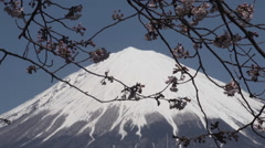 View of Fujiyama from Fujinomiya Stock Footage