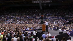 Stock Video Footage of Bernie Sanders, Speech, Campaign, Rally, Presidential