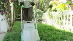 Home Gardening - Electric Mower (Shot 5) Stock Footage